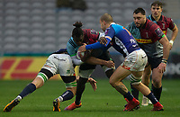 Harlequins' Gabriel Ibitoye in action during todays match<br /> <br /> Photographer Bob Bradford/CameraSport<br /> <br /> European Rugby Challenge Cup Pool 5 - Harlequins v Benetton Treviso - Saturday 15th December 2018 - Twickenham Stoop - London<br /> <br /> World Copyright © 2018 CameraSport. All rights reserved. 43 Linden Ave. Countesthorpe. Leicester. England. LE8 5PG - Tel: +44 (0) 116 277 4147 - admin@camerasport.com - www.camerasport.com