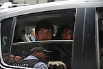 Former Illinois Governor Rod Blagojevich leaves the Dirksen Federal Building with his wife Patti Blagojevich after being found guilty of 17 counts of wire fraud, attempted extortion, bribery, extortion conspiracy and bribery conspiracy in Chicago, Illinois on June 27, 2011. He was acquitted on one charge of bribery, and the jury deadlocked on two counts of attempted extortion.
