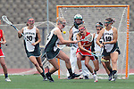 San Diego, CA 05/21/11 - Rachel Brennan (Coronado #22), Carissa Fisher (Cathedral Catholic #1), Cory Demarco (Coronado #19) and Brianne Clifford (Coronado #10) in action during the 2011 CIF San Diego Division 2 Girls lacrosse finals between Cathedral Catholic and Coronado.