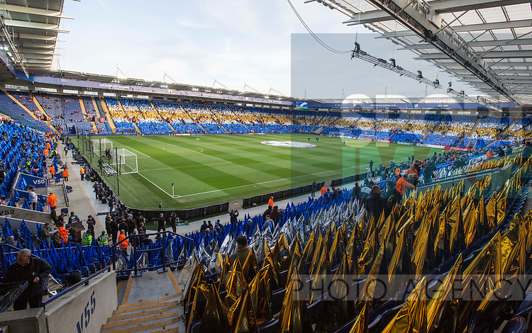 A general view of the King Power Stadium during the Champions League Quarter-Final 2nd leg match at the King Power Stadium, Leicester. Picture date: April 18th, 2017. Pic credit should read: David Klein/Sportimage