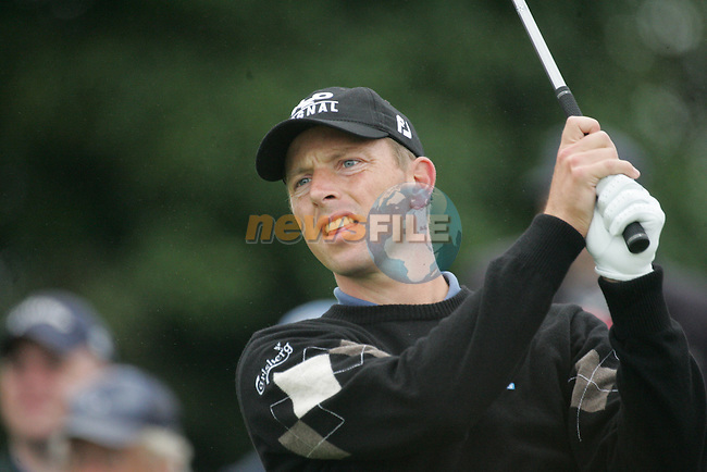 Soren Hansen drives off on the par 4 13th hole during the first round of the Smurfit Kappa European Open at The K Club, Strffan,Co.Kildare, Ireland 5th July 2007 (Photo by Eoin Clarke/NEWSFILE)