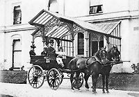 BNPS.co.uk (01202 558833)<br /> Pic: JeanPitt/BNPS<br /> <br /> Charles Digby Harrod in his carriage outside Morebath Manor near Tiverton in Devon, where he lived after his retirement from 1891-1901.<br /> <br /> Harrods was almost shut down in the 1830s long before it became a worldwide name because of its founder's criminal dealings, a new book has revealed.<br /> <br /> In The Jewel of Knightsbridge, The Origins of the Harrods Empire, author Robin Harrod discovered his great great grandfather, Harrods founder Charles Henry Harrod, was on the brink of being deported to Australia for handling stolen goods in 1836.<br /> <br /> He was only saved from his sentence of seven years transportation (deportation) by a petition on his behalf which vowed he would turn his back on crime.<br /> <br /> The Jewel of Knightsbridge: The Origins of The Harrods Empire by Robin Harrod, published by The History Press, costs &pound;20 and will be released on February 13.