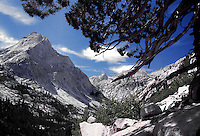 Le Conte Canyon, below Muir Pass, John Muir Trail, Kings Canyon National Park, California.