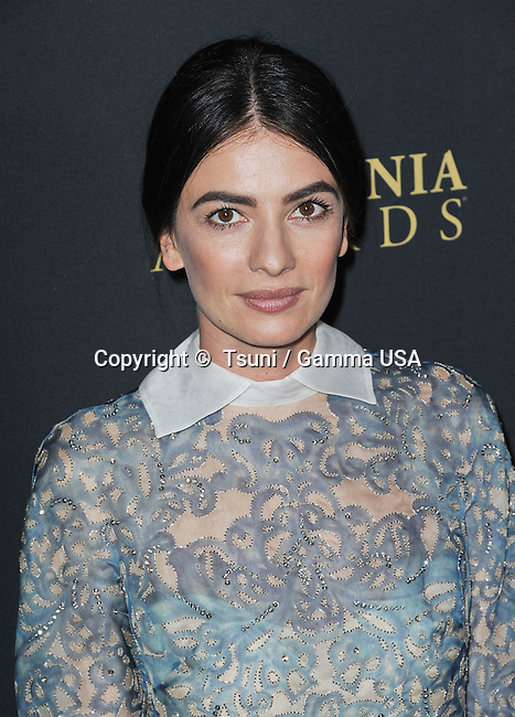 Leila Yavari  at  the BAFTA Britannia Awards 2013 at the Beverly Hilton In Los Angeles.