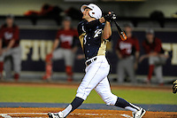 2 March 2012:  FIU infielder/outfielder Tyler James Shantz (5) bats as the FIU Golden Panthers defeated the Brown University Bears, 6-5, at University Park Stadium in Miami, Florida.