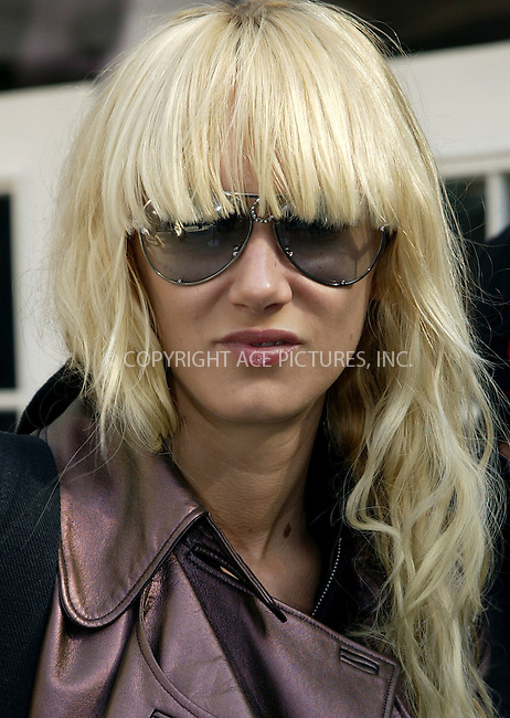 Rod Stewart's daughter, shoe designer Kimberly Stewart arrives at the tent in Bryant Park for New York Fashion Week. New York, February 13, 2004. Please byline: ACE Pictures.   ..*PAY-PER-USE*      ....IMPORTANT: Please note that our old trade name, NEW YORK PHOTO PRESS (NYPP), is replaced by our new name, ACE PICTURES. New York Photo Press and ACE Pictures are owned by All Celebrity Entertainment, Inc.......All Celebrity Entertainment, Inc:  ..contact: Alecsey Boldeskul (646) 267-6913 ..Philip Vaughan (646) 769-0430..e-mail: info@nyphotopress.com