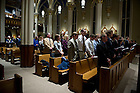 January 24, 2012; The Mass of Remembrance for the 20th anniversary of the University of Notre Dame swimming team bus accident in the Basilica of the Sacred Heart. Photo by Barbara Johnston/University Photographer