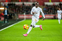 Modou Barrow of Swansea in action during the Barclays Premier League match between Swansea City and West Ham United played at the Liberty Stadium, Swansea  on December 20th 2015