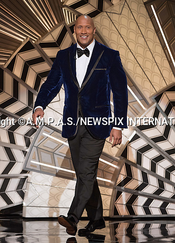26.02.2017; Hollywood, USA: DWAYNE JOHNSON<br /> at The 89th Annual Academy Awards at the Dolby&reg; Theatre in Hollywood.<br /> Mandatory Photo Credit: &copy;AMPAS/NEWSPIX INTERNATIONAL<br /> <br /> IMMEDIATE CONFIRMATION OF USAGE REQUIRED:<br /> Newspix International, 31 Chinnery Hill, Bishop's Stortford, ENGLAND CM23 3PS<br /> Tel:+441279 324672  ; Fax: +441279656877<br /> Mobile:  07775681153<br /> e-mail: info@newspixinternational.co.uk<br /> Usage Implies Acceptance of Our Terms &amp; Conditions<br /> Please refer to usage terms. All Fees Payable To Newspix International