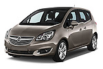 Angular Front Three Quarter View  2014 Opel MERIVA Cosmo 5 Door Mini MPV 2WD Stock Photo