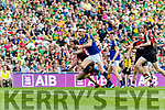 David Moran Kerry in action against Tom Parsons Mayo in the All Ireland Semi Final Replay in Croke Park on Saturday.