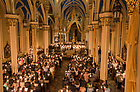 March 31, 2018; Easter Vigil mass presided by Rev. Peter D. Rocca, C.S.C., in the Basilica of the Sacred Heart. (Photo by Barbara Johnston/University of Notre Dame)