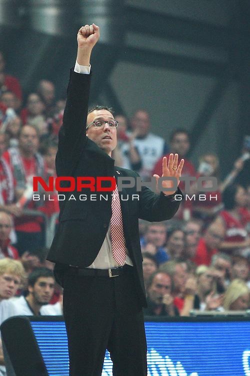 18.06.2011, Stechert Arena, Bamberg, GER, BBL, 5. Playoff Finale Brose Baskets Bamberg vs Alba Berlin, im Bild:<br /> Chris Fleming (Trainer Headcoach Bamberg)<br /> Foto &copy; nph / Will *** Local Caption ***