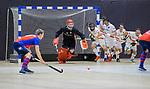 ROTTERDAM  - NK Zaalhockey . finale heren: SCHC-Amsterdam (2-2, SCHC wint shoot-outs) . uitlopen bij een strafcorner   COPYRIGHT KOEN SUYK