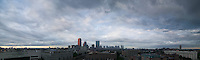 Skyline clouds from Northeastern Univ., Boston, MA