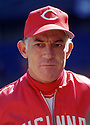 CIRCA 1972:  Sparky Anderson #10, of the Cincinnati Reds, portrait during a game from his 1972 season with the Cincinnati Reds. Sparky Anderson managed for 26 years with 2 different teams, won 3 World Series and was inducted to the Baseball Hall of Fame in 2000.(Photo by: 1972  SportPics  )  Sparky Anderson