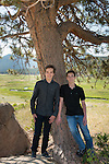 portrait of brothers Tom and Dylan in Rocky Mountain National Park, Colorado USA