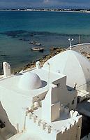 Afrique/Afrique du Nord/Tunisie/Hammamet : Maison de la Medina et le port