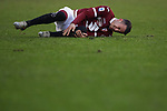 Alejandro Berenguer of Torino FC lays injured on the pitch during the Serie A match at Stadio Grande Torino, Turin. Picture date: 12th January 2020. Picture credit should read: Jonathan Moscrop/Sportimage