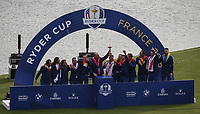 Europe wins the Ryder Cup, Le Golf National, &Icirc;le-de-France, France. 30/09/2018.<br /> Picture David Lloyd / Golffile.ie<br /> <br /> All photo usage must carry mandatory copyright credit (&copy; Golffile | David Lloyd)