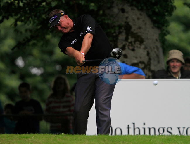 Darren Clarke tees off on the 14th tee during Day 2 of the 3 Irish Open at the Killarney Golf & Fishing Club, 30th July 2010..(Picture Eoin Clarke/www.golffile.ie)