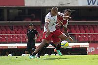 SAO PAULO, SP, 23.01.14. TREINO - SPFC. o jogador Alvaro Pereira durante o treino do São Paulo Futebol Clube, na tarde desta quinta feira no Estádio do Morumbi. (Foto: Adriana Spaca/Brazil Photo Press)
