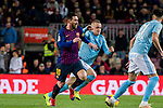 Lionel Andres Messi of FC Barcelona (L) competes for the ball with Stanislav Lobotka of RC Celta de Vigo during the La Liga 2018-19 match between FC Barcelona and RC Celta de Vigo at Camp Nou on 22 December 2018 in Barcelona, Spain. Photo by Vicens Gimenez / Power Sport Images