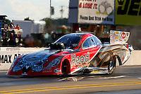 Sep 13, 2013; Charlotte, NC, USA; NHRA funny car driver Chad Head during qualifying for the Carolina Nationals at zMax Dragway. Mandatory Credit: Mark J. Rebilas-
