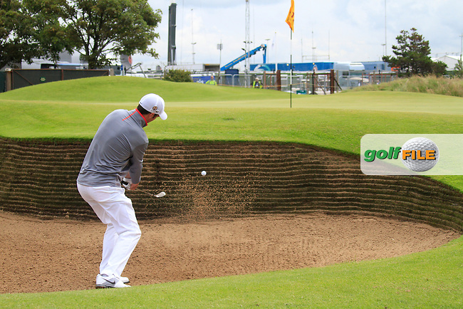 Ross Fisher (ENG) plays out of a bunker at the 12th green during Friday's Round 2 of the 141st Open Championship at Royal Lytham & St.Annes, England 20th July 2012 (Photo Eoin Clarke/www.golffile.ie)