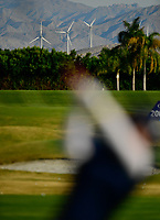 Swinging for the windmills that power the Cochella Valley in Ca. during the third round of the ANA Inspiration at the Mission Hills Country Club in Palm Desert, California, USA. 3/31/18.<br /> <br /> Picture: Golffile | Bruce Sherwood<br /> <br /> <br /> All photo usage must carry mandatory copyright credit (&copy; Golffile | Bruce Sherwood)during the second round of the ANA Inspiration at the Mission Hills Country Club in Palm Desert, California, USA. 3/31/18.<br /> <br /> Picture: Golffile | Bruce Sherwood<br /> <br /> <br /> All photo usage must carry mandatory copyright credit (&copy; Golffile | Bruce Sherwood)