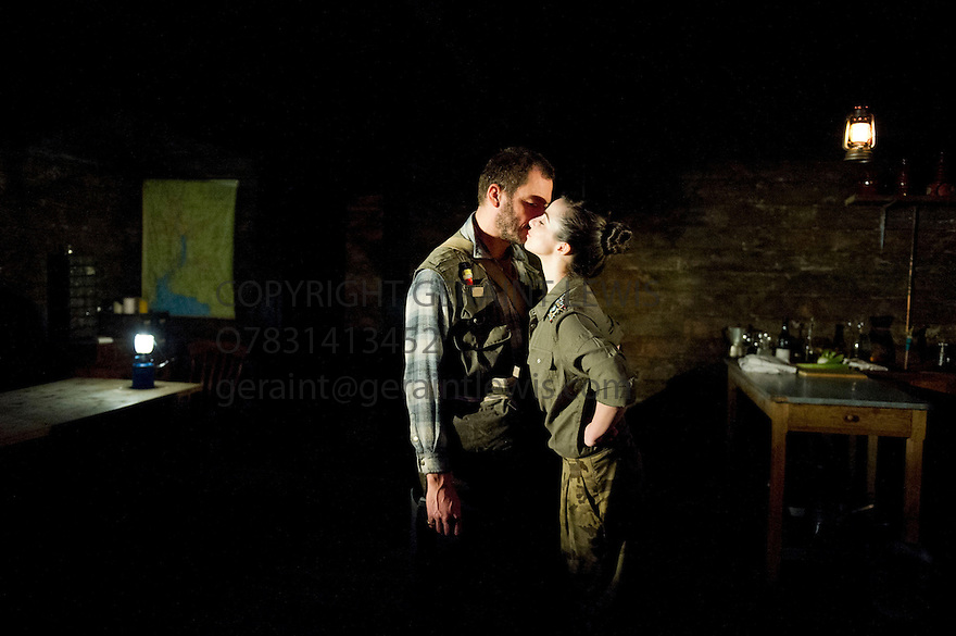 The River by Jez Butterworth directed by Ian Rickson. With Dominic West and  Laura Donnelly. Opens at The Jerwood Theatre Upstairs at The Royal Court Theatre on 26/10/12. CREDIT Geraint Lewis