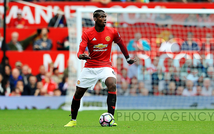 Paul Pogba of Manchester United  during the Premier League match at Old Trafford Stadium, Manchester. Picture date: September 24th, 2016. Pic Sportimage