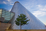 Tacoma, WA<br /> Angled cone of the Museum of Glass on the Thea Foss Waterway, Tacoma's waterfront