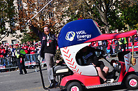 Washington, DC - November 2, 2019: Washington Nationals player Sean Doolittle engages with fans during a parade for the Washington Nationals in Washington, D.C. November 2, 2019 after the team won the World Series Championship against the Houston Astros.  (Photo by Don Baxter/Media Images International)