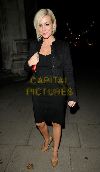 SHERIDAN SMITH.The Willow Foundation 10th Anniversary Dinner, Royal Courts of Justice, London, England. .October 17th 2009.full length black dress jacket beige shoes .CAP/CAN.©Can Nguyen/Capital Pictures.