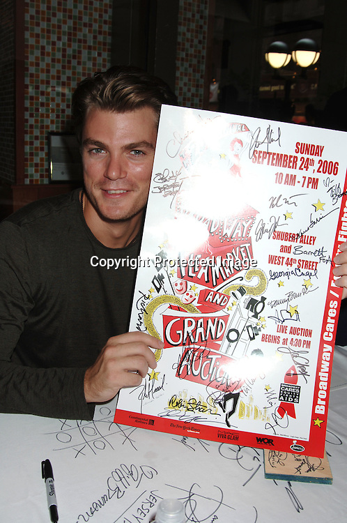 Jeff Branson of All My Children..at The 20th Annual Broadway Cares/Equity Fights Aids Broadway Flea Market, Celebrity Autograph Table and Grand Auction on September 24, 2006 at Shubert Alley...Robin Platzer, Twin Images