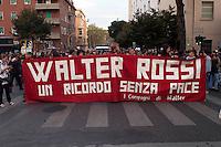 Roma 30  Settembre 2008.Manifestazione in ricordo di Walter Rossi ucciso dai fascisti il 30 Settembre 1977.Rome September 30, 2008.Manifestation in memory of Walter Rossi, killed by the fascists the September 30, 1977.