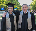 Michael Haddad and Austin Roefer during the University of Nevada College of Liberal Arts and Donald W. Reynolds School of Journalism graduation ceremony on Saturday morning, May 20, 2017.