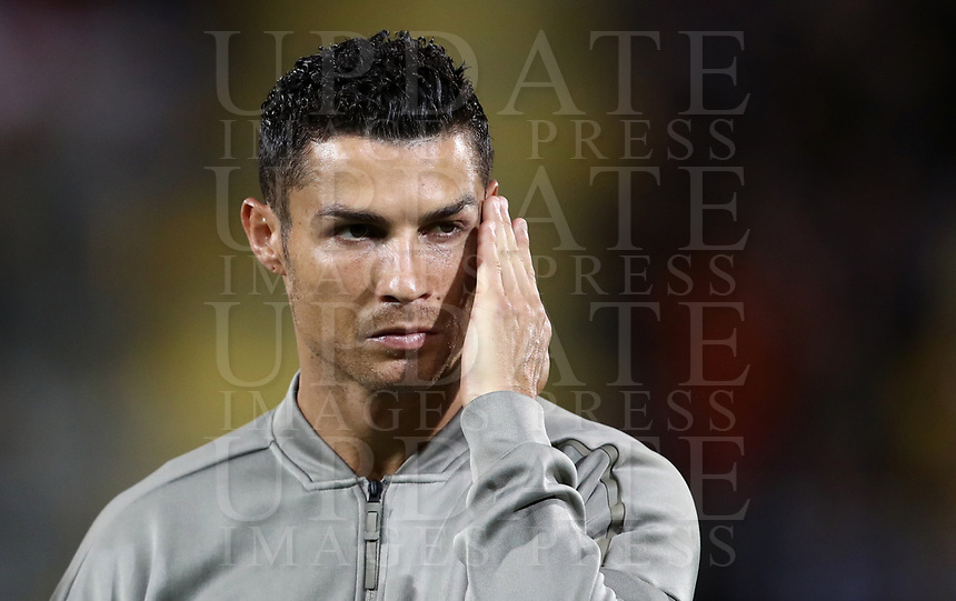 Calcio, Serie A: Frosinone-Juventus, Benito Stirpe stadium in Frosinone, September 23, 2018. <br /> Juventus' Cristiano Ronaldo looks on prior to the Italian Serie A football match between Frosinone and Juventus at Frosinone stadium on September 23, 2018.<br /> UPDATE IMAGES PRESS/Isabella Bonotto