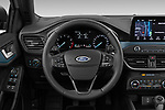 Car pictures of steering wheel view of a 2019 Ford Focus Active 5 Door Hatchback Steering Wheel