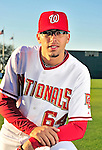 28 February 2010: Washington Nationals pitcher Luis Atilano poses for his Spring Training photo at Space Coast Stadium in Viera, Florida. Mandatory Credit: Ed Wolfstein Photo