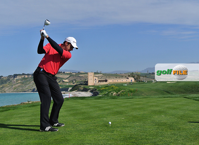 Richard Bland (ENG) on the 9th on Day 3 of the 2012 Sicilian Open at Verdura Golf and Spa Resort, Sicily, Italy...(Photo Jenny Matthews/www.golffile.ie)