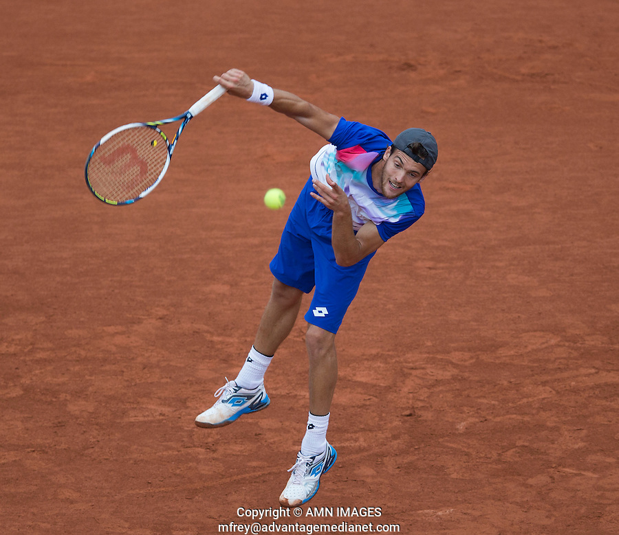 JOAO SOUSA (POR)<br /> <br /> Tennis - French Open 2014 -  Toland Garros - Paris -  ATP-WTA - ITF - 2014  - France -  26 May 2014. <br /> <br /> &copy; AMN IMAGES