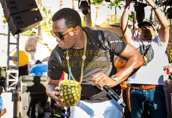 LAS VEGAS, NV - August 31: Puff Daddy hosts Pineapple Ciroc Launch Labor Day Party at REHAB Pool Party at Hard Rock Hotel &amp; Casino in Las Vegas, NV on August 31, 2014.  <br /> CAP/MPI/RTNKabik<br /> &copy;RTNKabik/MediaPunch/Capital Pictures