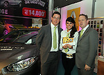 Jason Curtis, Fay Hassan and Donal Waters at the Drogheda Motor Show...(Photo credit should read Jenny Matthews www.newsfile.ie)....This Picture has been sent you under the condtions enclosed by:.Newsfile Ltd..The Studio,.Millmount Abbey,.Drogheda,.Co Meath..Ireland..Tel: +353(0)41-9871240.Fax: +353(0)41-9871260.GSM: +353(0)86-2500958.email: pictures@newsfile.ie.www.newsfile.ie.