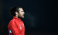 Lincoln City's Michael Bostwick during the pre-match warm-up<br /> <br /> Photographer Chris Vaughan/CameraSport<br /> <br /> The EFL Sky Bet League Two - Lincoln City v Cheltenham Town - Tuesday 13th February 2018 - Sincil Bank - Lincoln<br /> <br /> World Copyright &copy; 2018 CameraSport. All rights reserved. 43 Linden Ave. Countesthorpe. Leicester. England. LE8 5PG - Tel: +44 (0) 116 277 4147 - admin@camerasport.com - www.camerasport.com