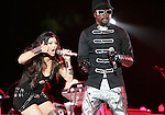 Will.i.am & Fergie of The Black Eyed Peas opened for U2's - 360° Tour ,the show was being broadcast live on youtube from The Rose Bowl in Pasadena, California on October 25,2009                                                                   Copyright 2009 DVS / RockinExposures