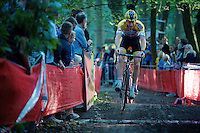 Toon Aerts (BEL/Telenet-Fidea) jumping the ditch<br /> <br /> GP Neerpelt 2014