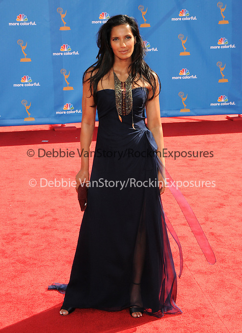 Padma Lakshmi ..  at The 62nd Anual Primetime Emmy Awards held at Nokia Theatre L.A. Live in Los Angeles, California on August 29,2010                                                                   Copyright 2010  DVS / RockinExposures