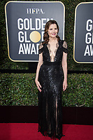 Geena Davis arrives at the 75th Annual Golden Globe Awards at the Beverly Hilton in Beverly Hills, CA on Sunday, January 7, 2018.<br /> *Editorial Use Only*<br /> CAP/PLF/HFPA<br /> &copy;HFPA/PLF/Capital Pictures